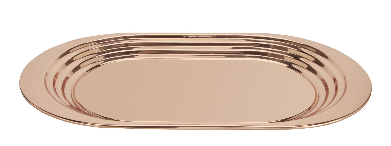 Arts de la table - Plateaux - Plateau Plum / 36 x 61 cm - Tom Dixon - Cuivre - Acier inoxydable plaqué cuivre