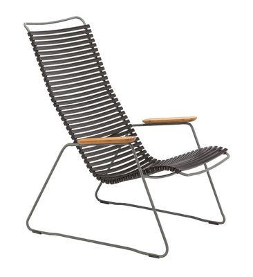 Arredamento - Poltrone design  - Poltrona bassa Click Lounge / Schienale alto - Houe - Nero - Bambù, Metallo, Plastica