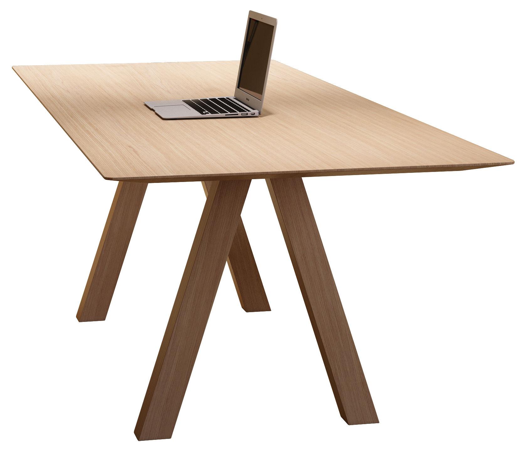 Furniture - Dining Tables - Tresle Rectangular table - / 240 x 90 cm by Viccarbe - Natural Oak - MDF veneer oak, Solid oak