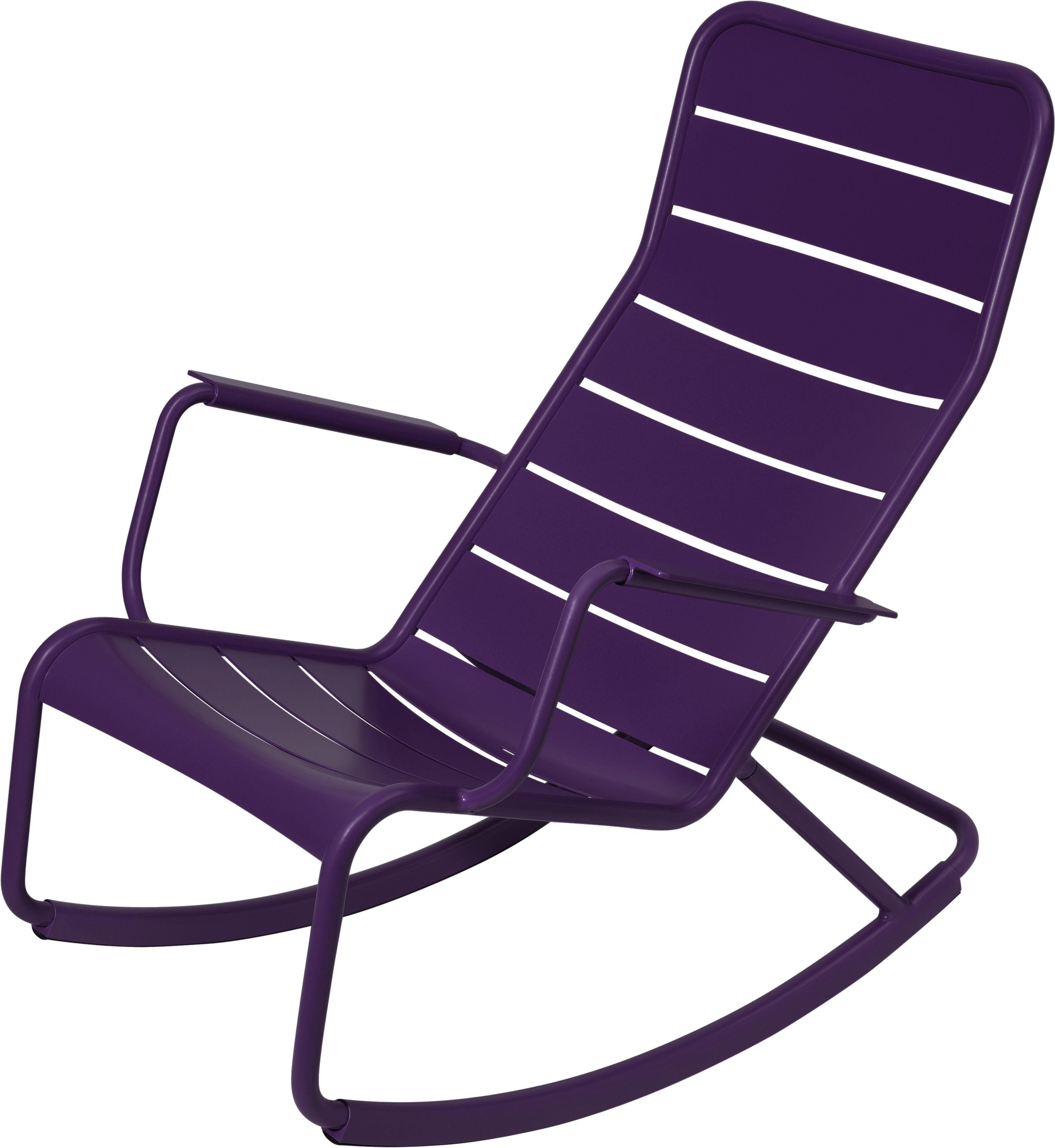 Life Style - Rocking chair Luxembourg / Aluminium - Fermob - Aubergine - Aluminium