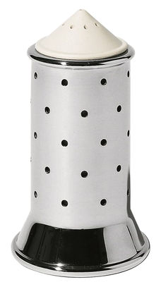 Egg Cups - Salt & Pepper Mills - Graves Salt shaker by Alessi - White - Polyamide, Stainless steel