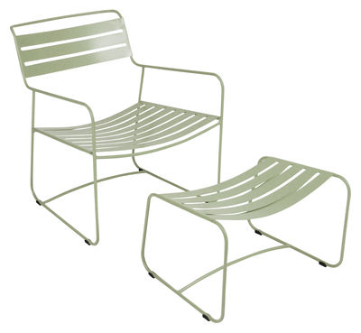 Set fauteuil & repose-pieds Surprising Lounger - Fermob tilleul en métal