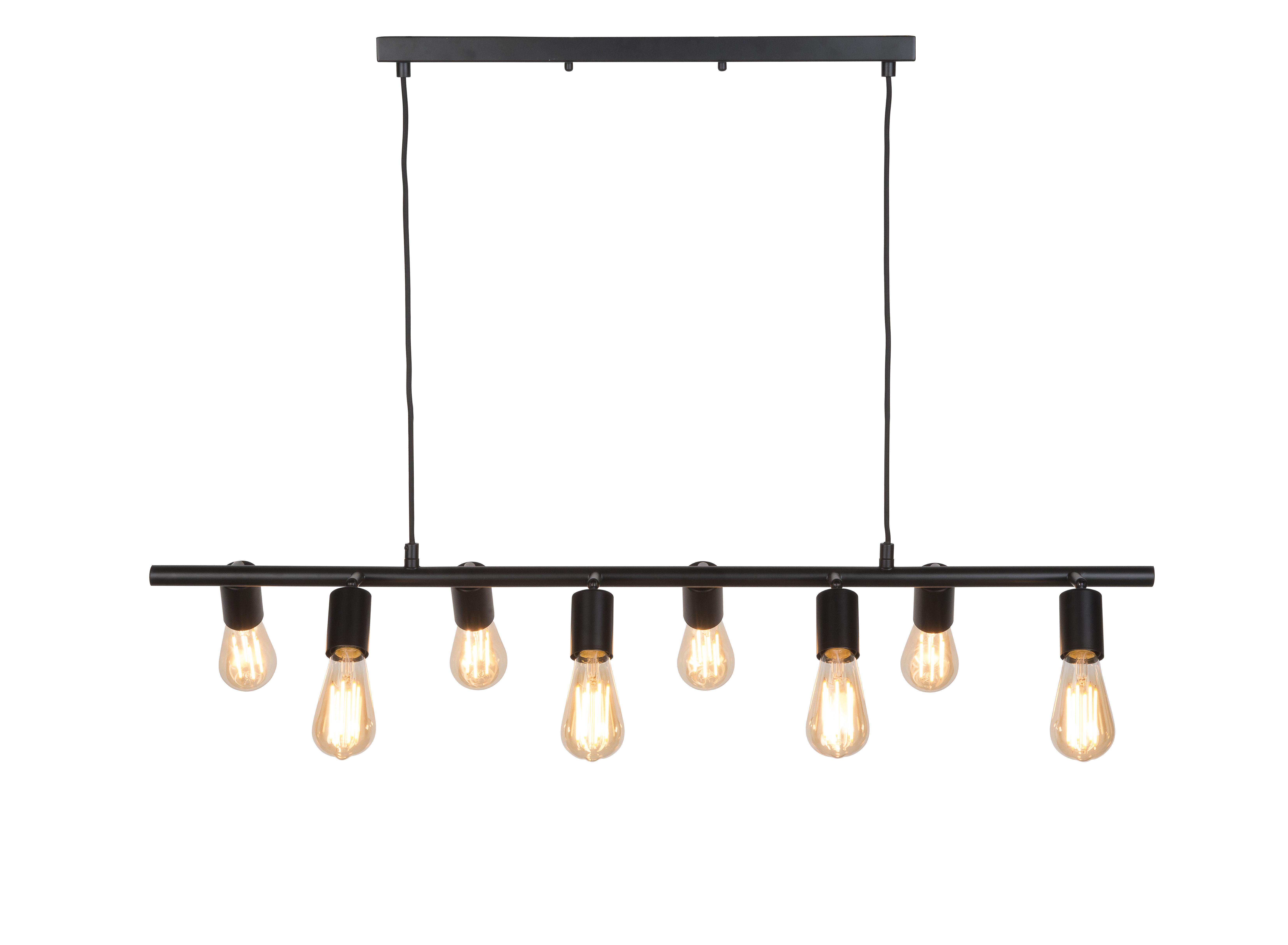 Illuminazione - Lampadari - Sospensione Miami - / 8 portalampadine regolabili - L 105 cm di It's about Romi - Nero - Ferro