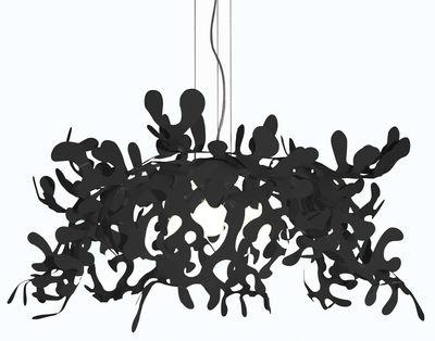 Illuminazione - Lampadari - Sospensione Superleaves - Ø 105 cm di Lumen Center Italia - Nero - metallo laccato