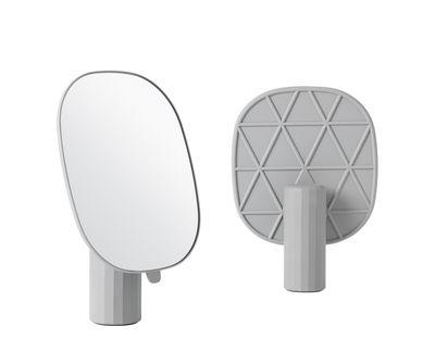 Interni - Specchi - Specchio da appoggiare Mimic di Muuto - Grigio - ABS moulé par injection, Resina