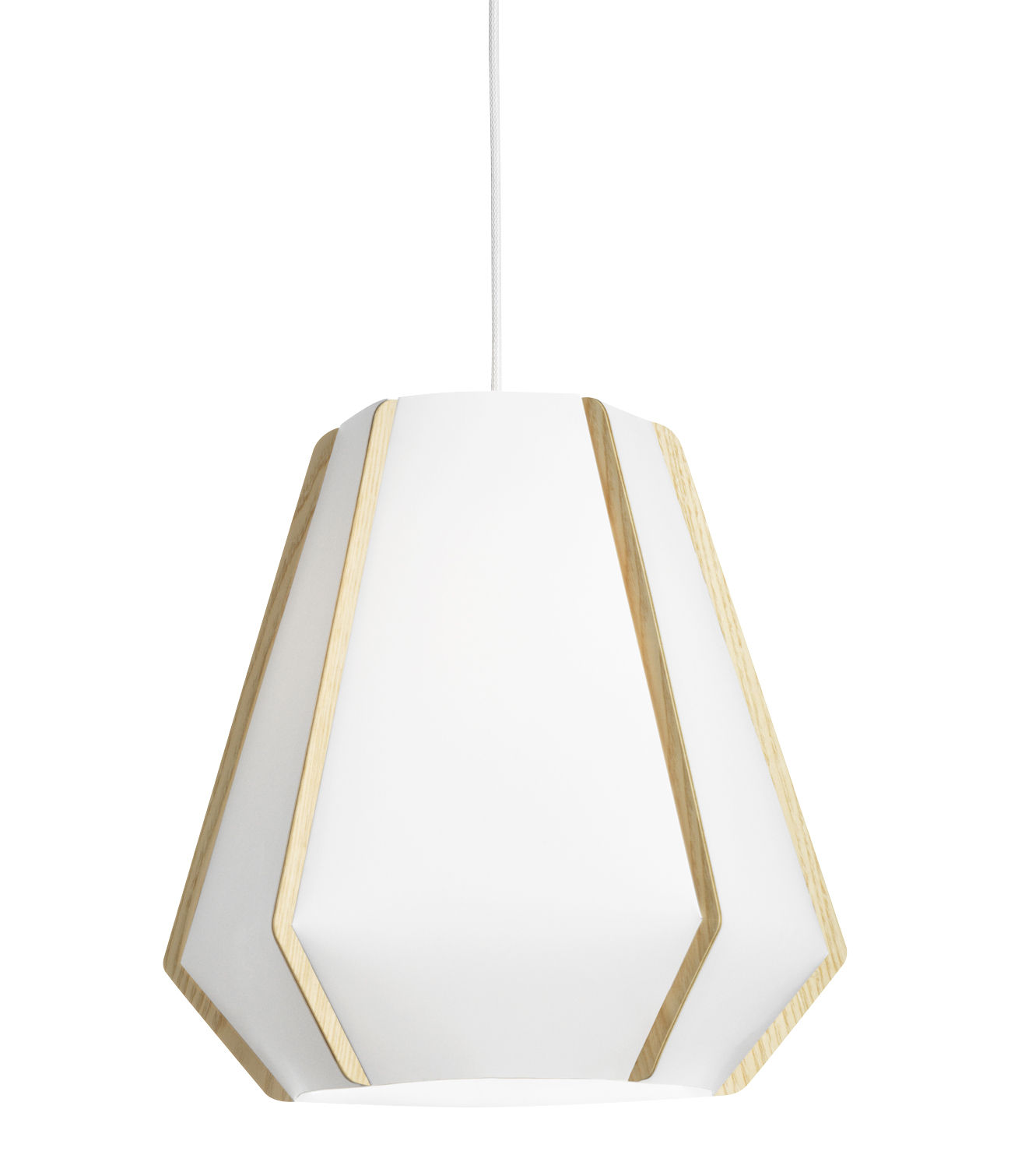 Luminaire - Suspensions - Suspension Lullaby P2 / Ø 43 x H 39 cm - Lightyears - Blanc / Frêne - Frêne, Papier de pierre