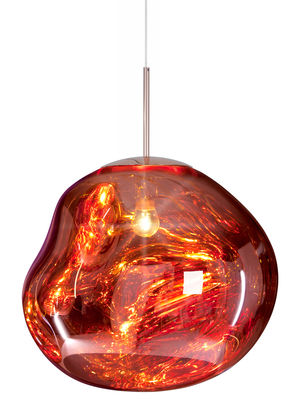 Luminaire - Suspensions - Suspension Melt / Ø 50 cm - Tom Dixon - Cuivre - Polycarbonate