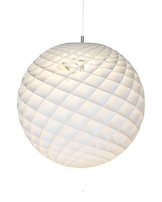 Suspension Patera / Ø 60 cm - PVC - Louis Poulsen blanc en métal/matière plastique