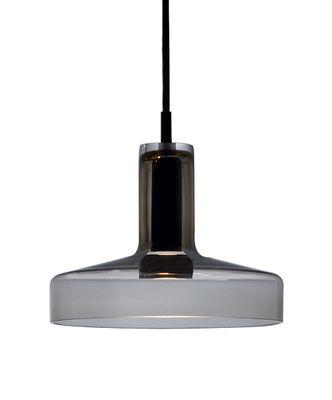 Suspension Stab Light Medium / Ø 21 x H 17 cm - Verre artisanal - Danese Light marron en verre