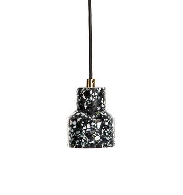 Suspension Terrazzo / Ø 9,6 X H 11,5 cm - XL Boom noir en pierre