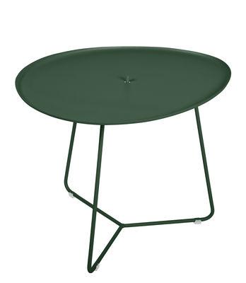 Table basse Cocotte / L 55 x H 43,5 cm - Plateau amovible - Fermob vert cèdre en métal