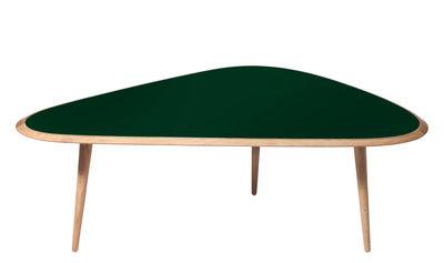 Table basse Large / 130 x 85 cm - Laque - RED Edition vert/bois naturel en bois