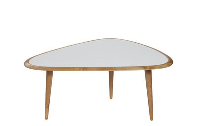 Table basse Small / 85 x 53 cm - Laque - RED Edition blanc/bois naturel en bois