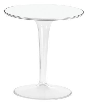 Table d'appoint Tip Top / Plateau PMMA - Kartell blanc laqué en matière plastique