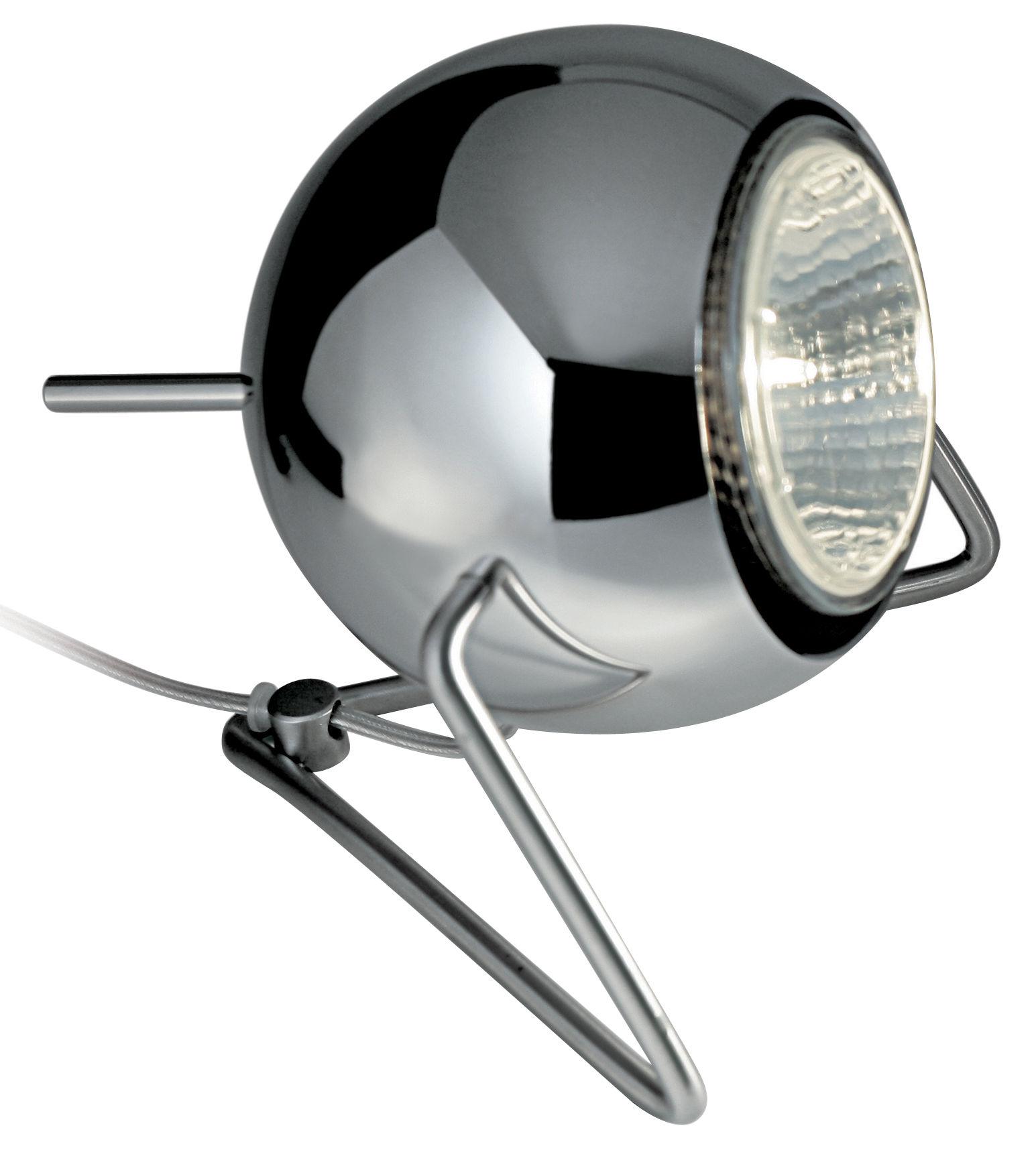 Lighting - Table Lamps - Beluga Table lamp - Metal version by Fabbian - chromed - Chromed metal