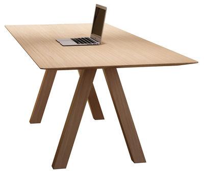 Mobilier - Tables - Table Tresle / 240 x 90 cm - Viccarbe - Chêne naturel - Chêne massif, MDF plaqué chêne