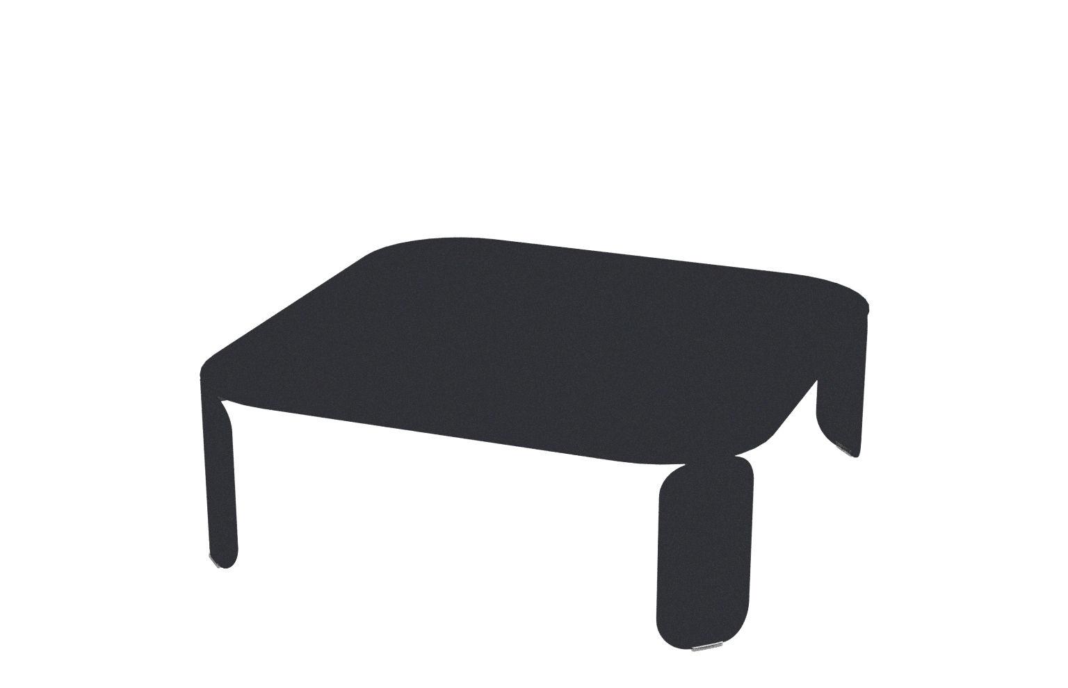 Arredamento - Tavolini  - Tavolino Bebop - / L 90 x H 29 cm di Fermob - Carbone - Acciaio, Alluminio