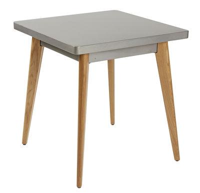 Tavolo Quadrato 55 Di Tolix Grigio Legno Naturale Made In Design