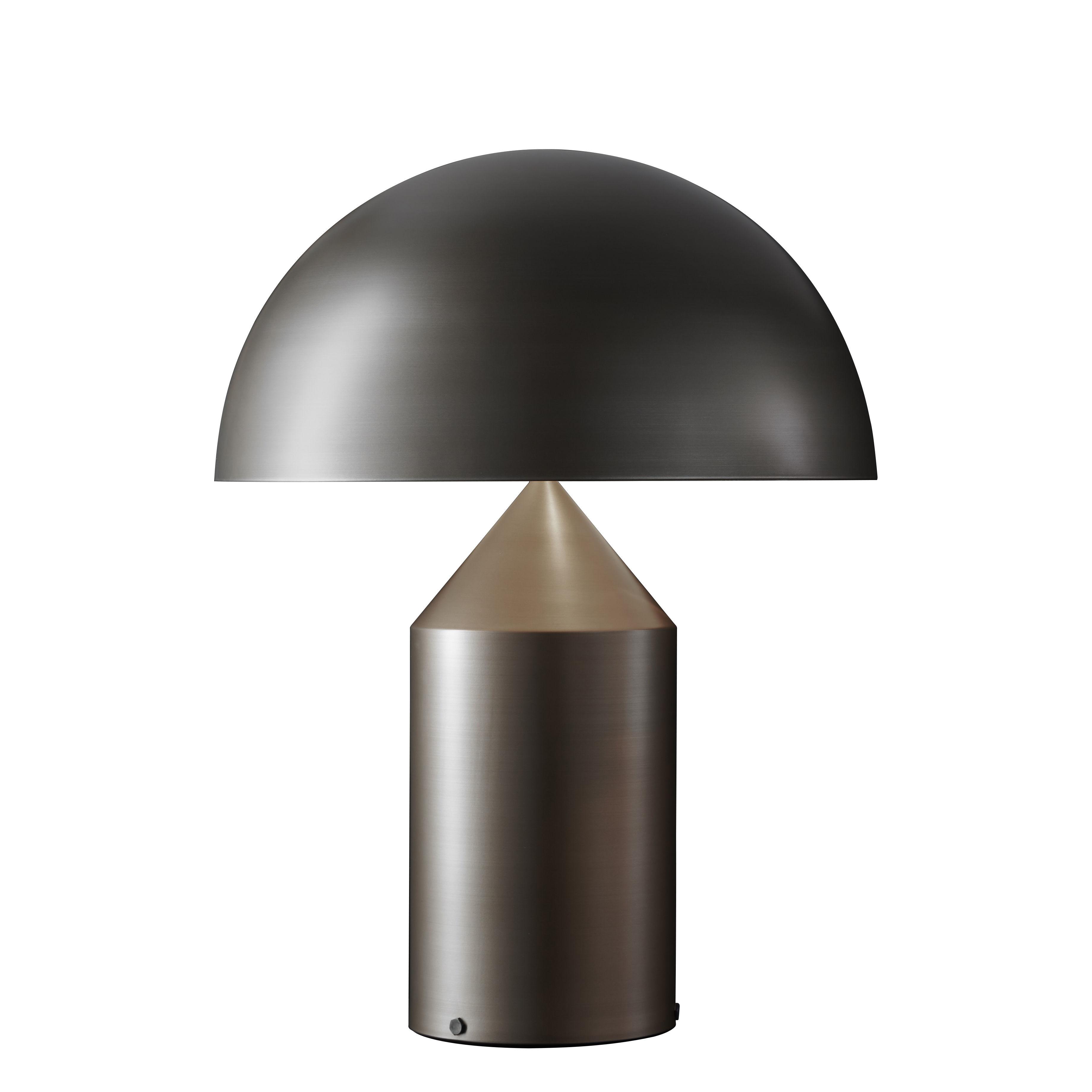 Leuchten - Tischleuchten - Atollo Large Tischleuchte Métal / H 70 cm / Vico Magistretti, 1977 - O luce - Bronze - klarlackbeschichtetes Aluminium