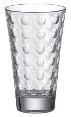 Arts de la table - Verres  - Verre long drink Optic / H 13 x Ø 8 cm - 30 cl - Leonardo - Transparent - Verre pelliculé