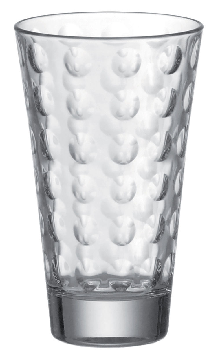 Arts de la table - Verres  - Verre long drink Optic / H 13 x Ø 8 cm - 30 cl - Leonardo - Transparent - Verre pelliculé