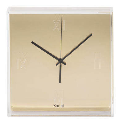 Decoration - Wall Clocks - Tic & Tac Wall clock - Melallised by Kartell - Gold - ABS, PMMA