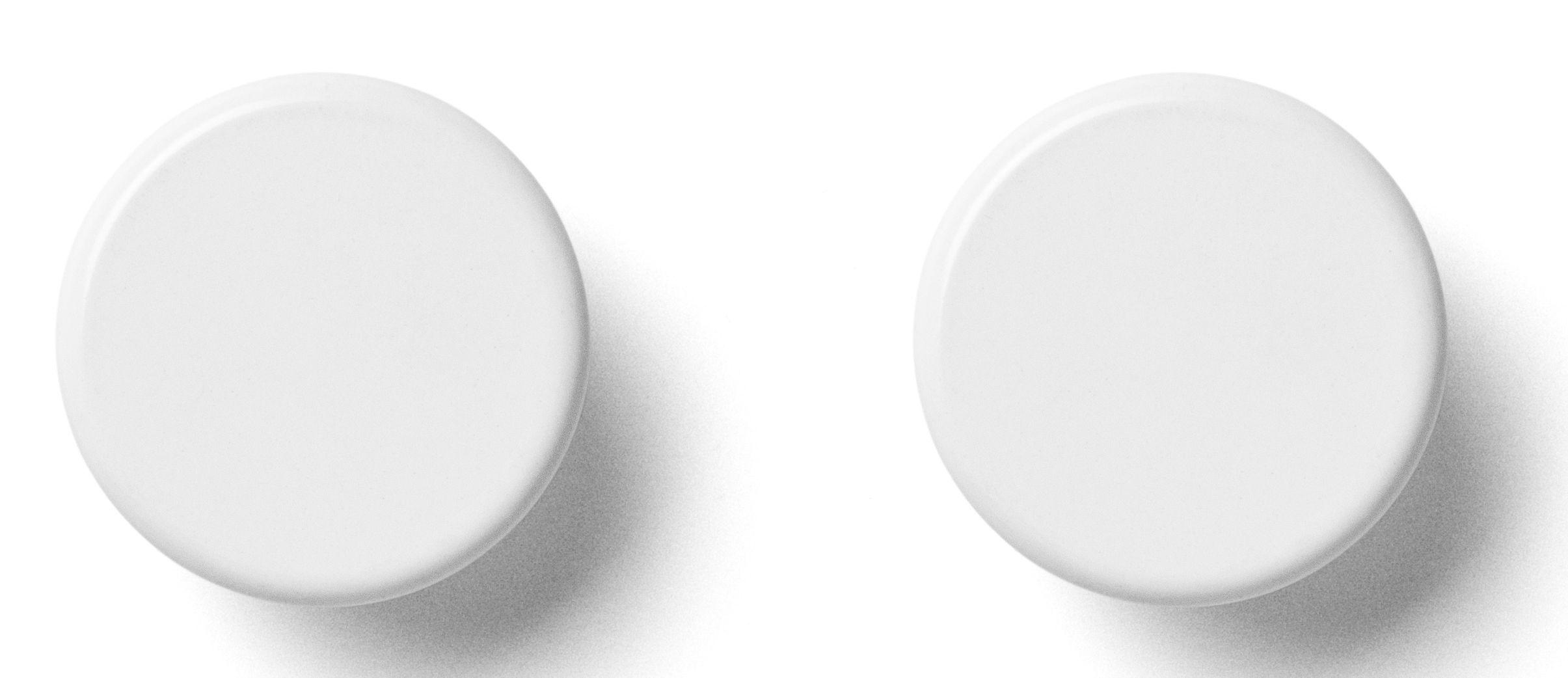 Möbel - Garderoben und Kleiderhaken - Wandhaken / 2er-Set - Menu - Weiß - Stahl