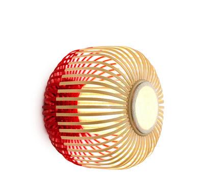 Bamboo light S Wandleuchte / Deckenleuchte - Ø 35 cm x H 23 cm - Forestier - Rot,Bambus Natur