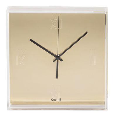 Dekoration - Uhren - Tic & Tac Wanduhr / metallic - Kartell - Ziffernblatt goldfarben / Zeiger schwarz - ABS, PMMA