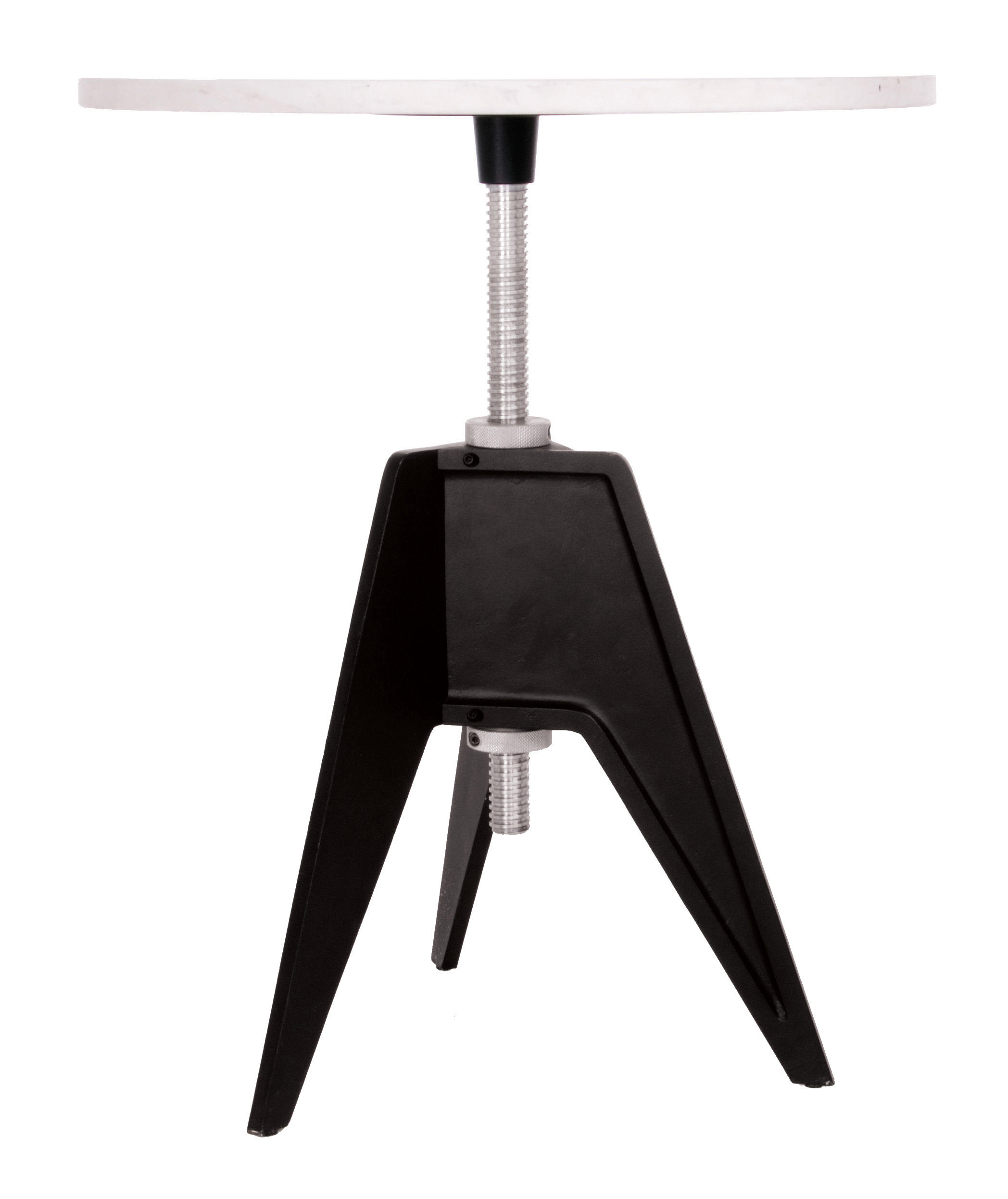 Furniture - Coffee Tables - Screw Adjustable height table - Adjustable height by Tom Dixon - Black and white - Aluminium, Cast iron, Marble