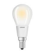 Ampoule LED E14 dimmable / Sphérique dépolie - 5W=40W (2700K, blanc chaud) - Osram blanc en verre