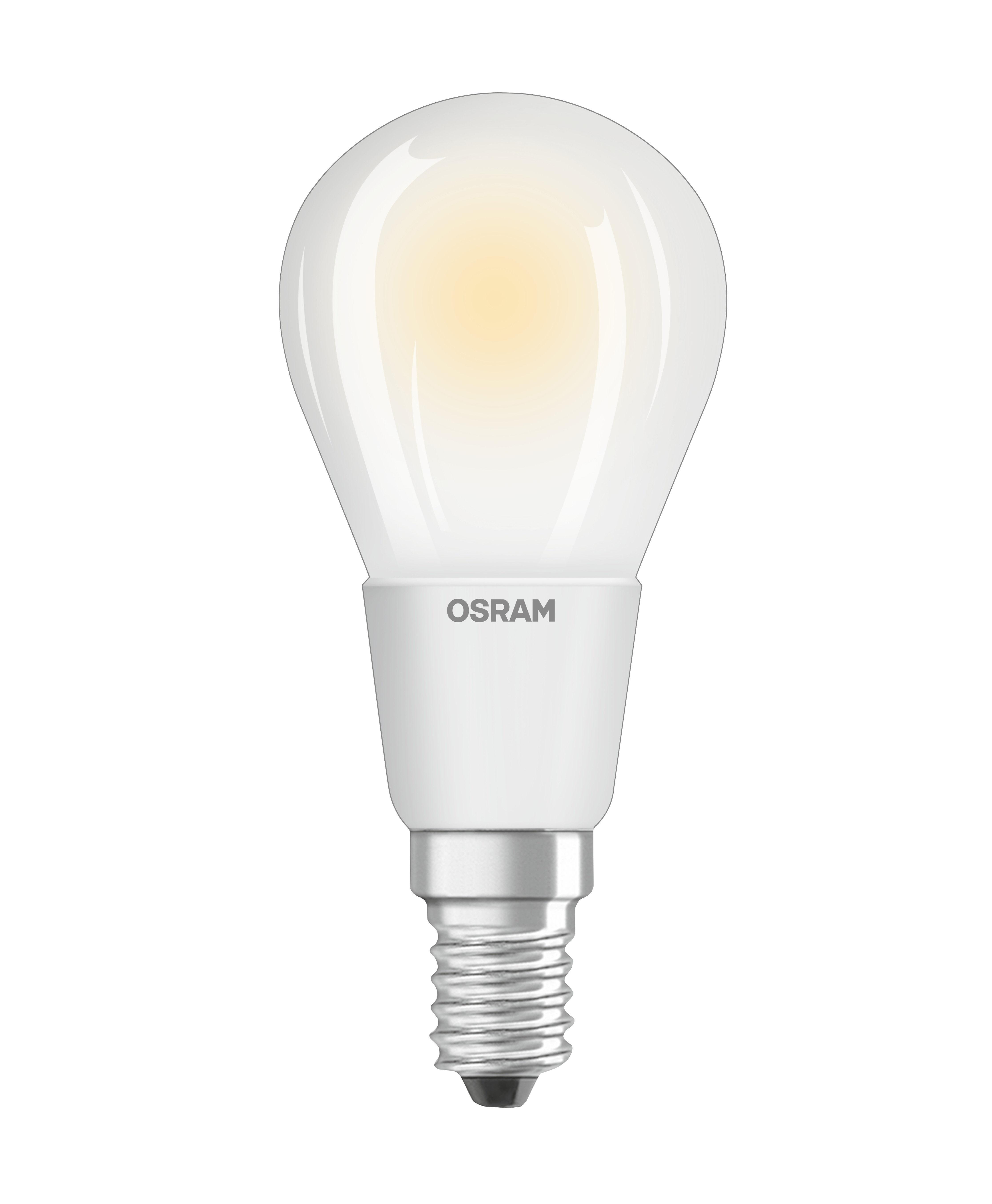 Luminaire - Ampoules et accessoires - Ampoule LED E14 dimmable / Sphérique dépolie - 5W=40W (2700K, blanc chaud) - Osram - 5W=40W - Verre