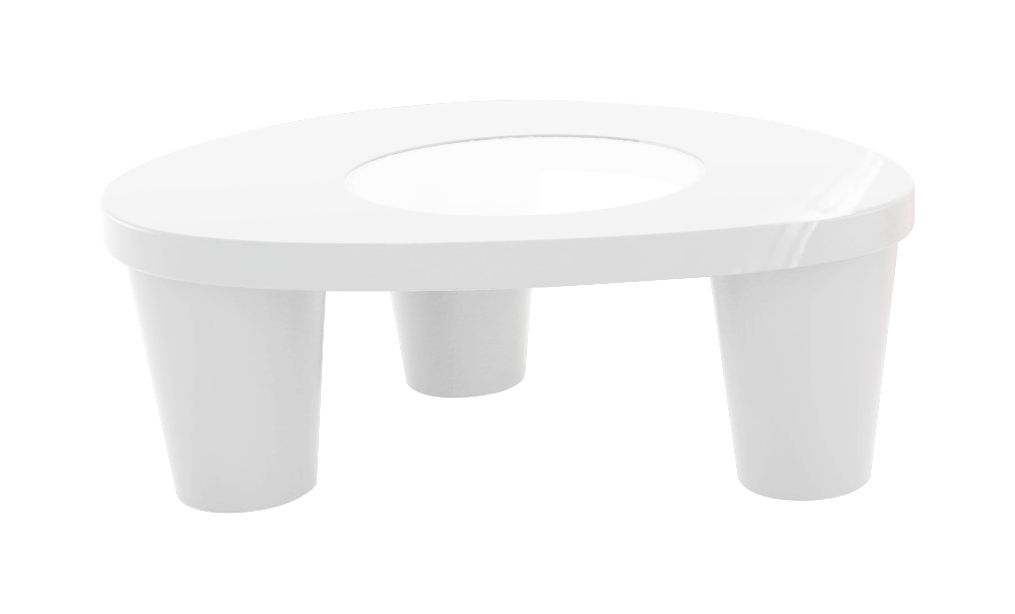 Furniture - Coffee Tables - Low Lita Coffee table - / Lacquered version by Slide - Laquered white - Glass, Lacquered polythene