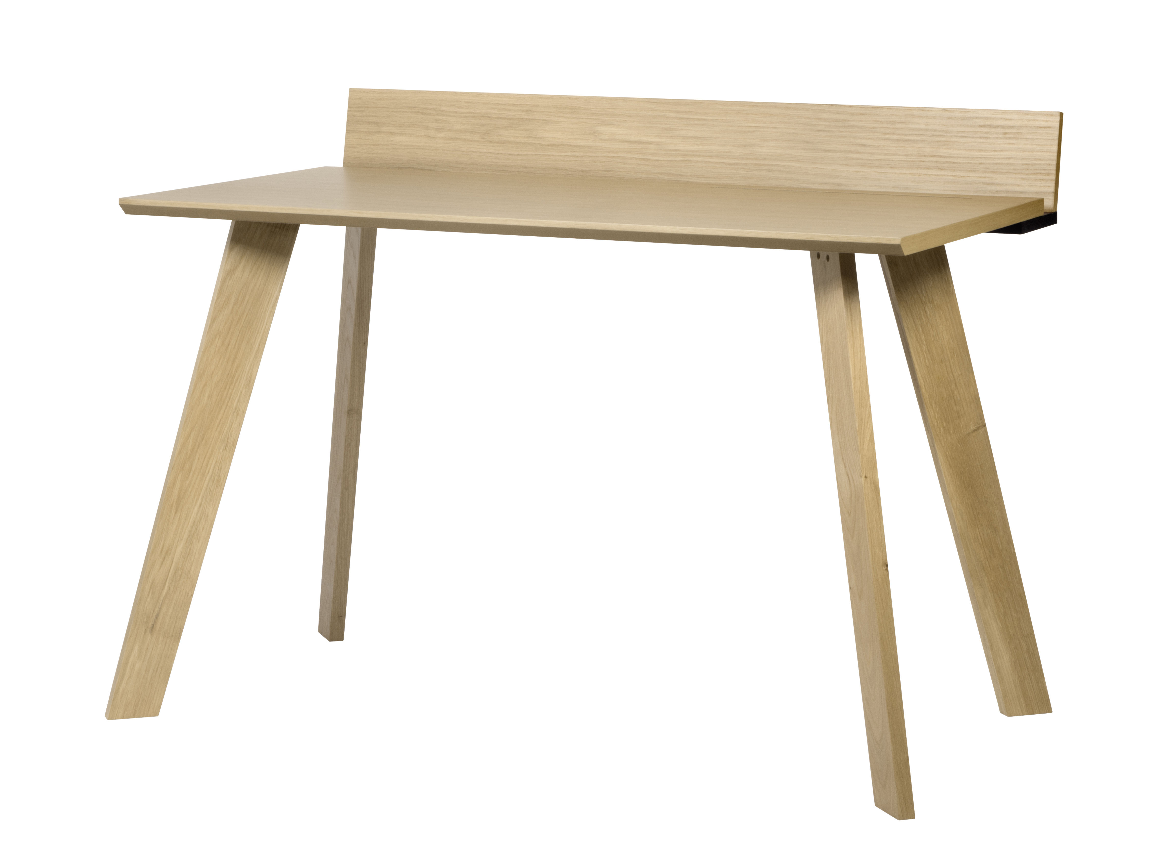 Furniture - Office Furniture - Connect Desk - / L 120 cm by POP UP HOME - Oak / Black - Oak plywood