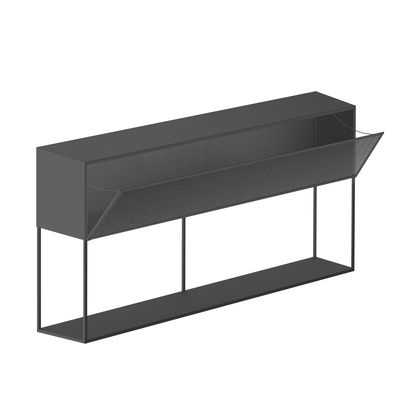 Furniture - Illuminated Furniture & Light UP Tables - Tristano Dresser - / With LED lighting  - L 150 x H 82 cm by Zeus - Micaceous grey - Steel