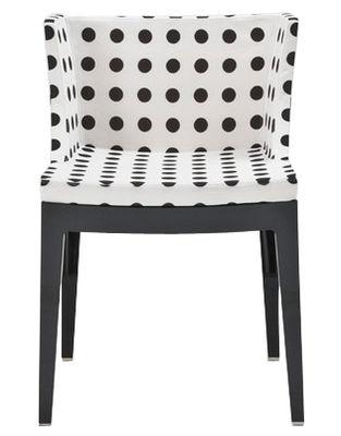 Mobilier - Chaises, fauteuils de salle à manger - Fauteuil rembourré Mademoiselle Structure noire - Kartell -  - Polycarbonate, Tissu