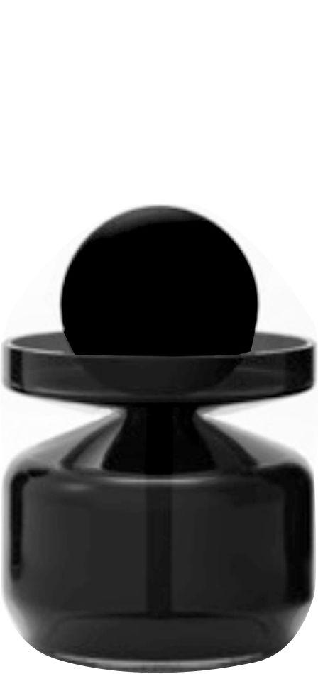 Tableware - Vinegar & Oil Bottles - Objets 2822 Flask - Flask Decanter - Small version 250 ml by Petite Friture - H 8,9 cm - Black - Glass