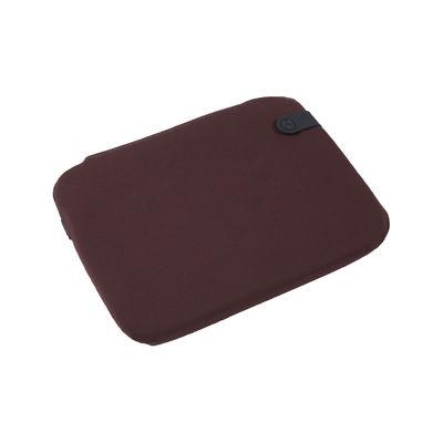 Galette de chaise Color Mix / Pour chaise Bistro - 38 x 30 cm - Fermob lie de vin en tissu
