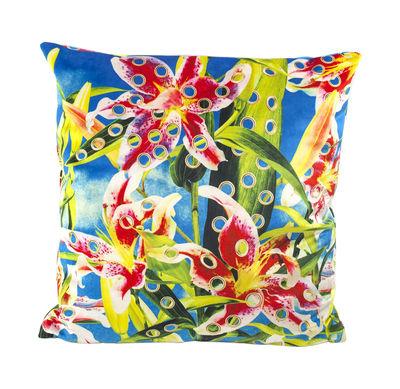Toiletpaper Kissen / durchlöcherte Blumen - 50 x 50 cm - Seletti - Bunt