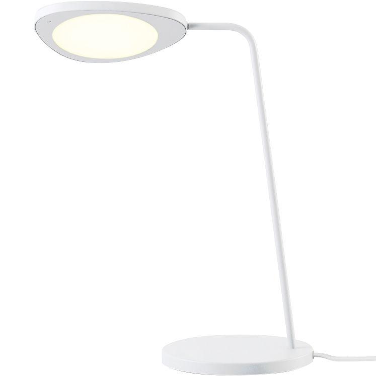 Illuminazione - Lampade da tavolo - Lampada da tavolo Leaf di Muuto - Bianco - Alluminio