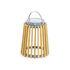 Lampada solare Solare - / Teak - H 40 cm / Ricarica solare o USB di Unopiu
