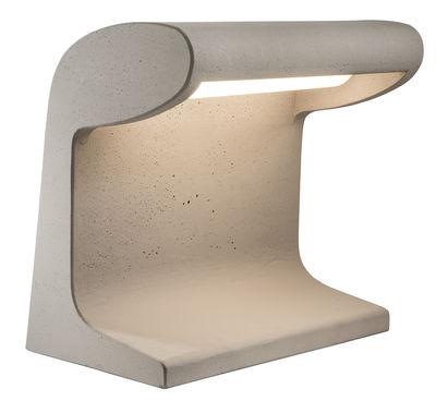 Lampe Béton Grande / LED OUTDOOR - Le Corbusier 1952 / H 50 cm - Nemo gris en pierre