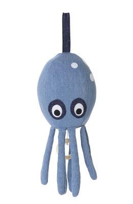 Déco - Pour les enfants - Mobile musical Octopus / Coton jean - Ferm Living - Bleu jean - Coton jean biologique