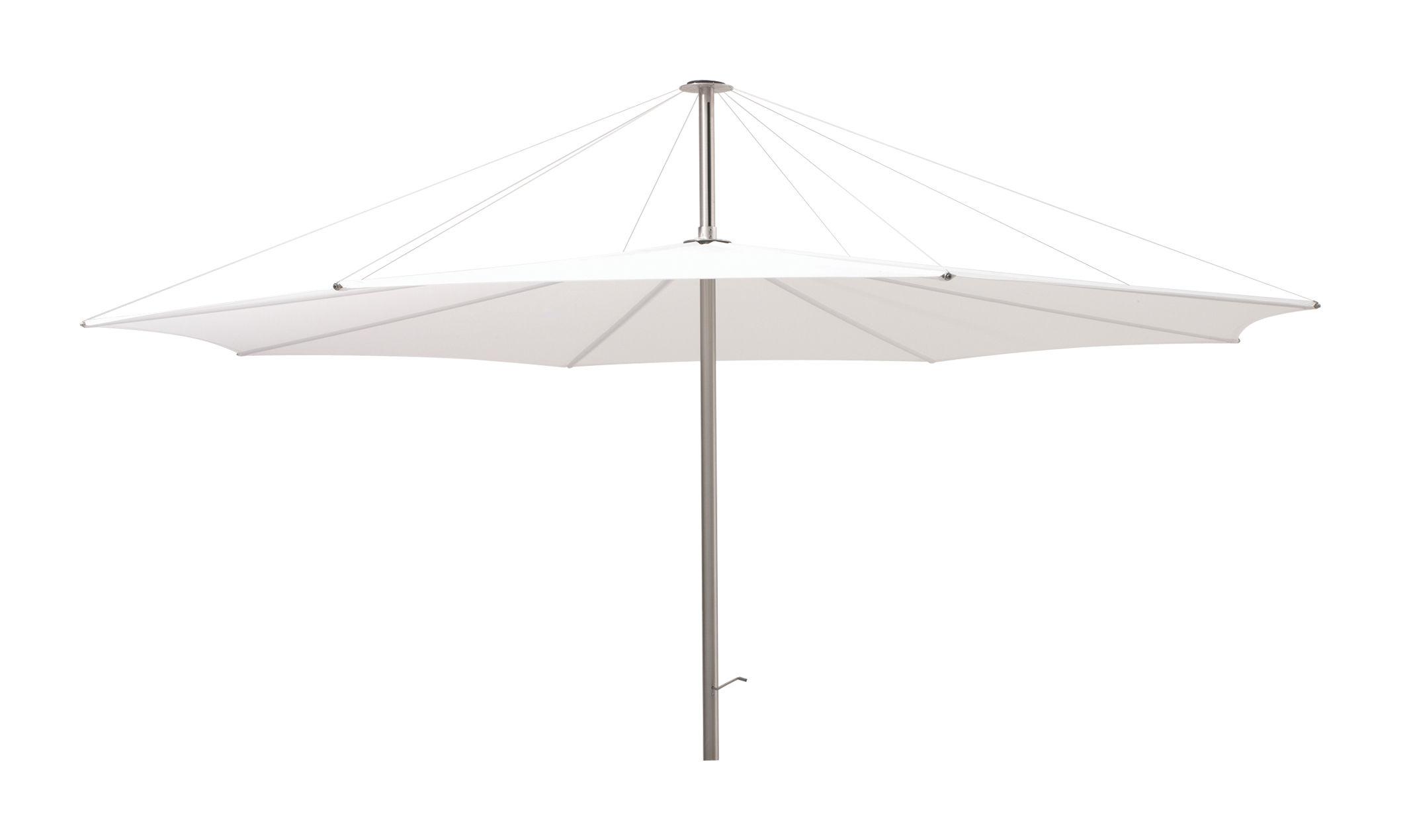 Outdoor - Parasols - Parasol Inumbra Ø 350 cm - Extremis - Parasol blanc - Acier inoxydable, Toile de polyester