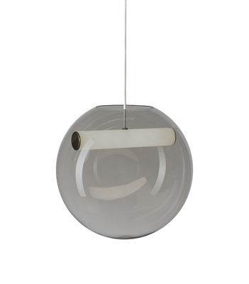 Lighting - Pendant Lighting - Reveal LED Pendant - / Blown glass by Northern  - Smoked grey - Acrylic, Mouth blown glass