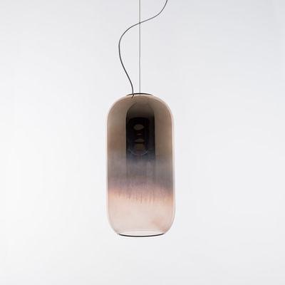 Leuchten - Pendelleuchten - Gople Pendelleuchte / Glas - H 42 cm - Artemide - Farbverlauf von kupfer bis transparent - geblasenes Glas