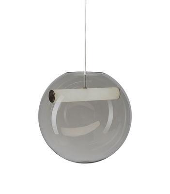 Reveal LED Pendelleuchte / Mundgeblasenes Glas - Northern - Weiß,Rauchgrau