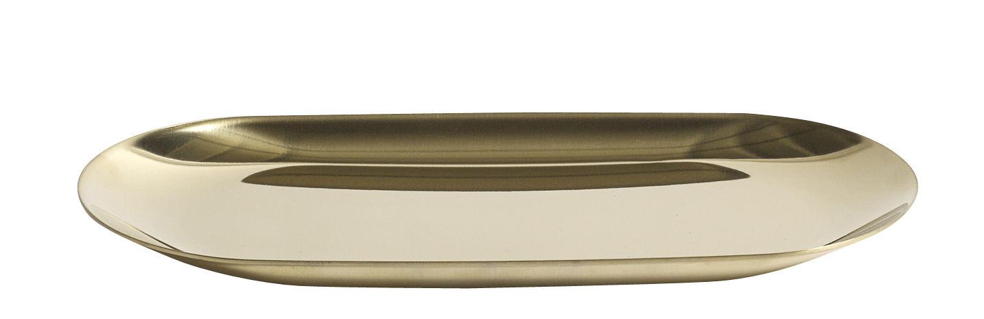 Tavola - Vassoi  - Vassoio Tray Small / L 18 cm - Hay - Oro - Acciaio inossidabile