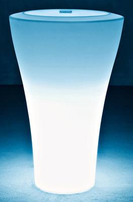 Mobilier - Mobilier lumineux - Pot de fleurs lumineux Ming Extra High H 140 cm - Serralunga - Blanc - Lumineux - Polyéthylène