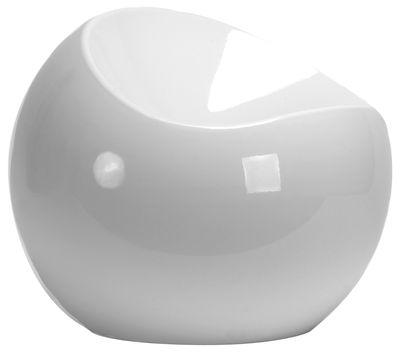 Arredamento - Mobili Ados  - Pouf Ball Chair di XL Boom - Bianco - ABS riciclato laccato